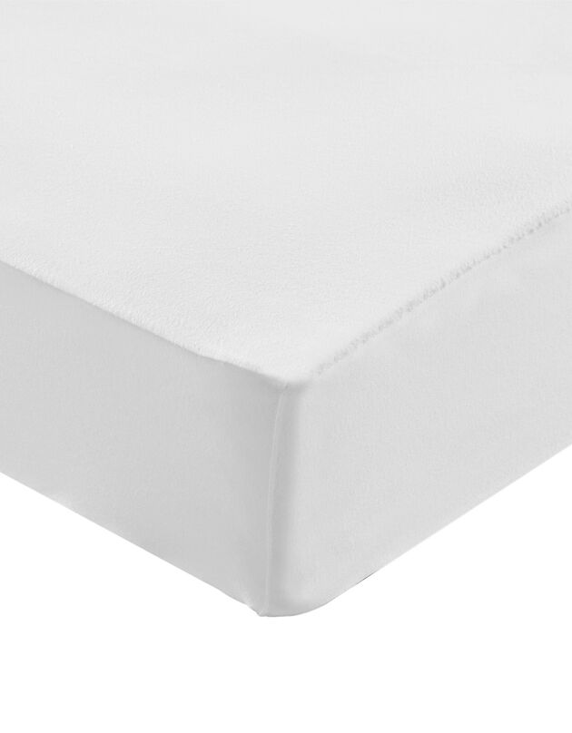 Protège-matelas molleton absorbant 400 g/m2 housse 25 cm, blanc, hi-res