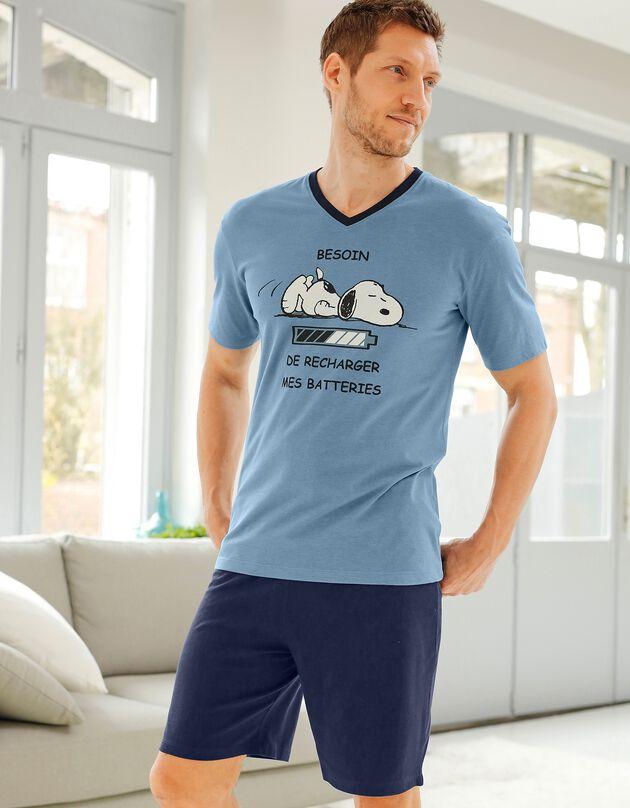 Shortama Snoopy® met korte mouwen, blauw / marine, hi-res