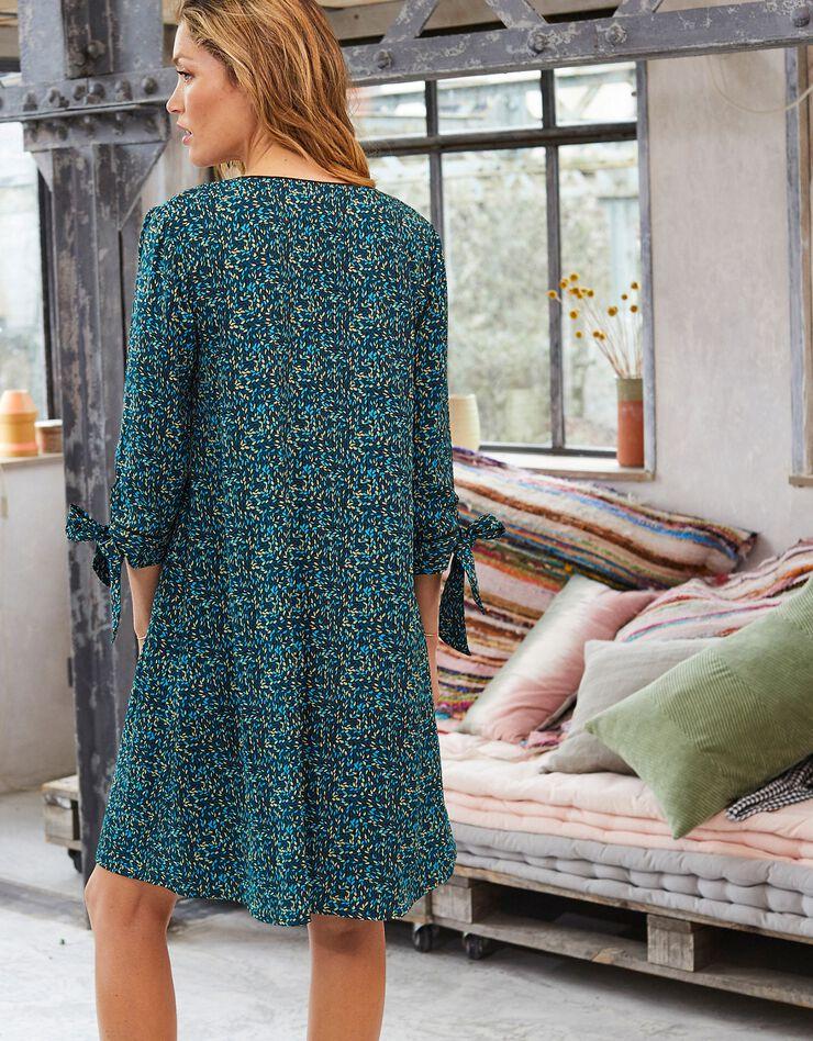 Bedrukte, uitlopende jurk, blauw, hi-res image number 2