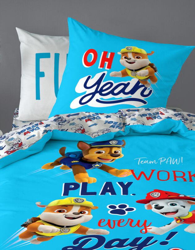 Lakenset kids Pat Patrouille® 1 persoon - katoen, blauw, hi-res