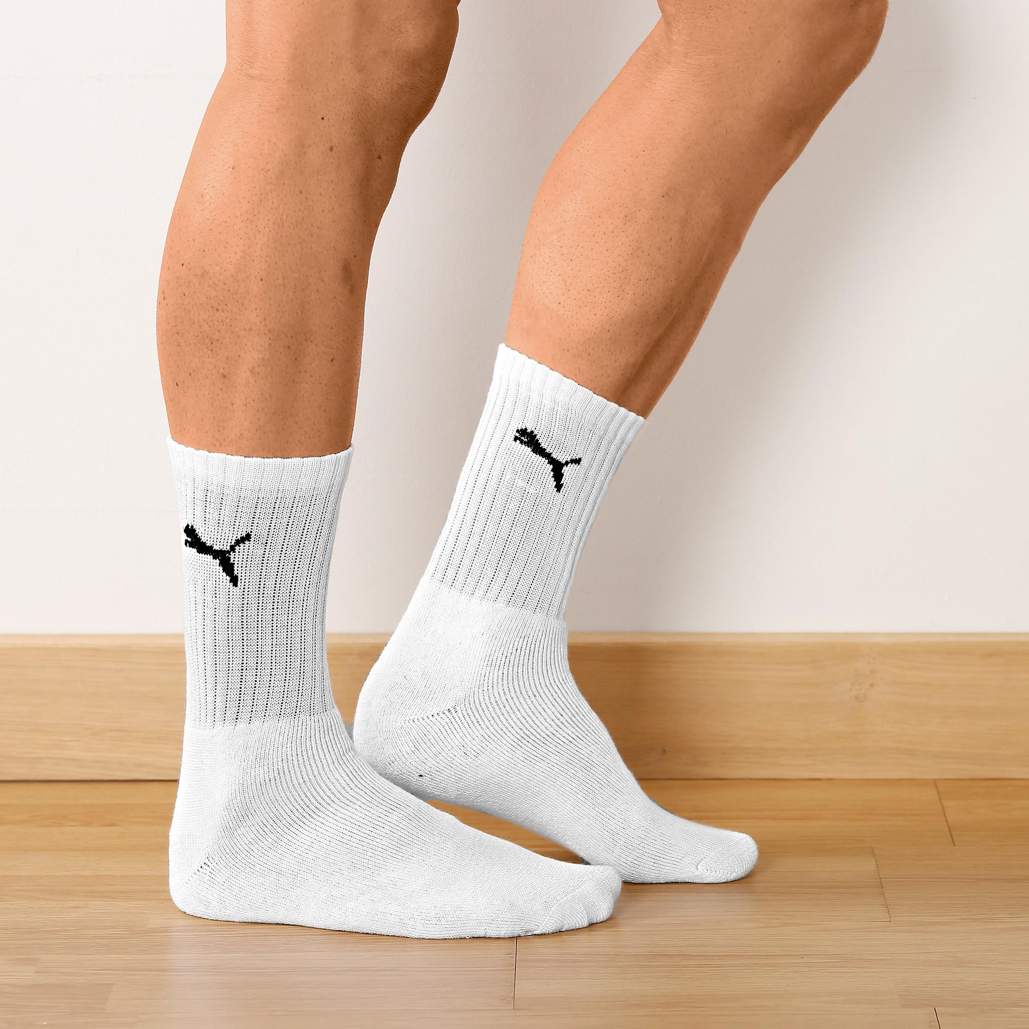 Mi-chaussettes sport - lot de 6 paires blanches